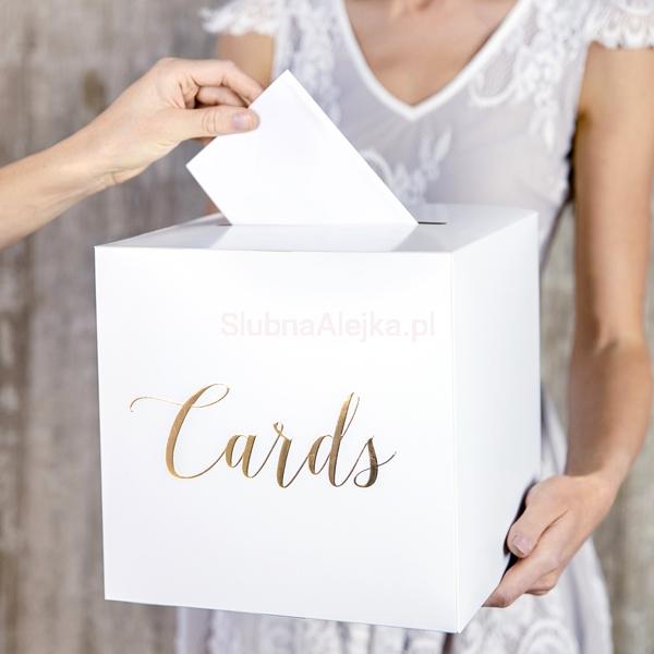 Niewiarygodnie Pudełko na Koperty Cards Złoty - Sklep Ślubna Alejka IV59