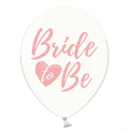 Balony Crystal Clear BRIDE TO BE Różowe 30cm 50szt.