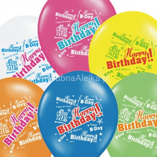 Balony Happy Birthday Pastel Mix 30cm 50szt.