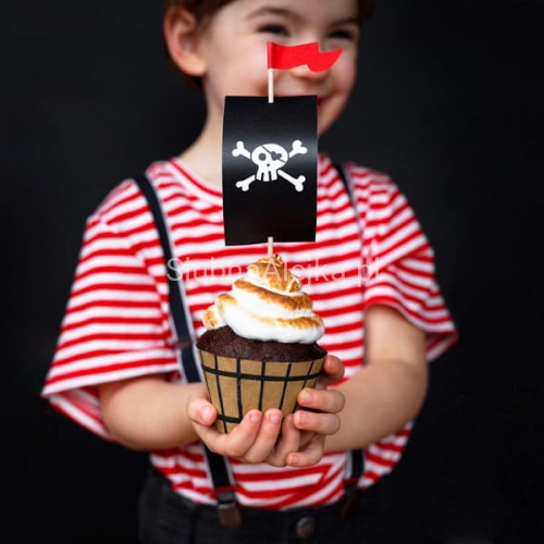 Zestaw do Muffinek Piraci Pirates Party 6szt.