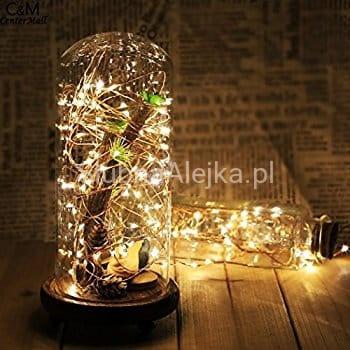Lampki Drucik Świetlny 40 Microled Na Baterię Sklep